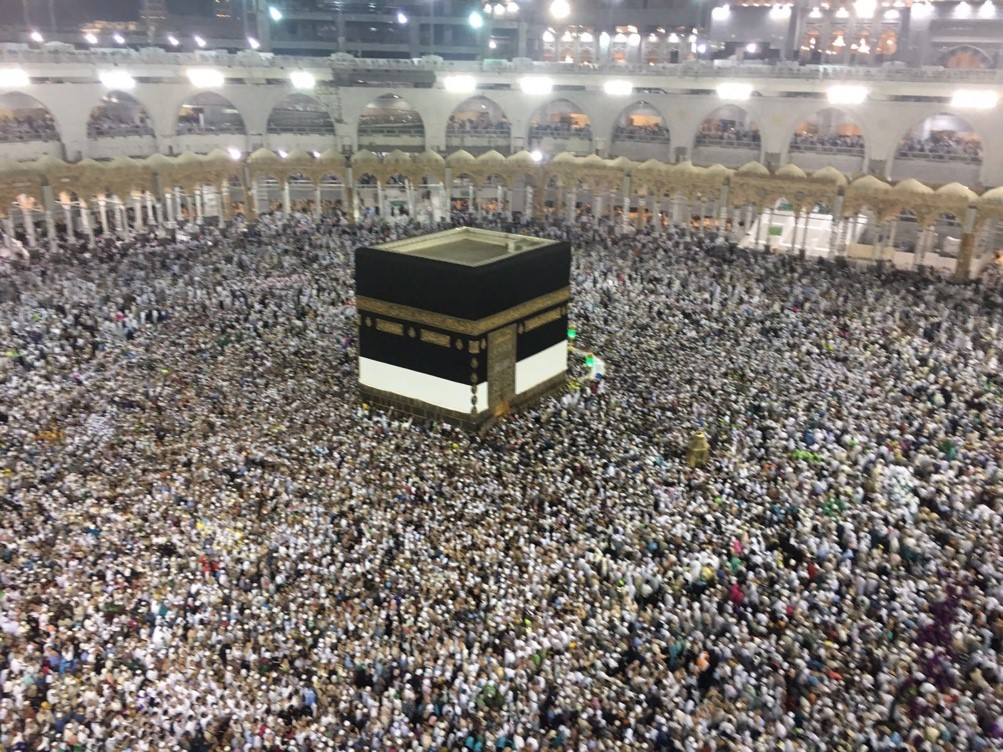 Seeing the Kaaba for the first time