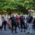 Kelompok Pengendara Sepeda Motor Menjaga di Luar Masjid-Masjid Selandia Baru